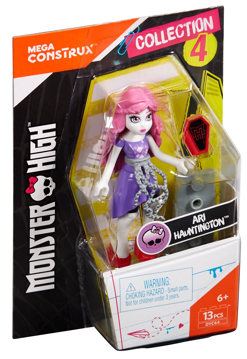 Mega Bloks Monster High Конструктор Базовая фигурка Ари Хантингтон, Mattel