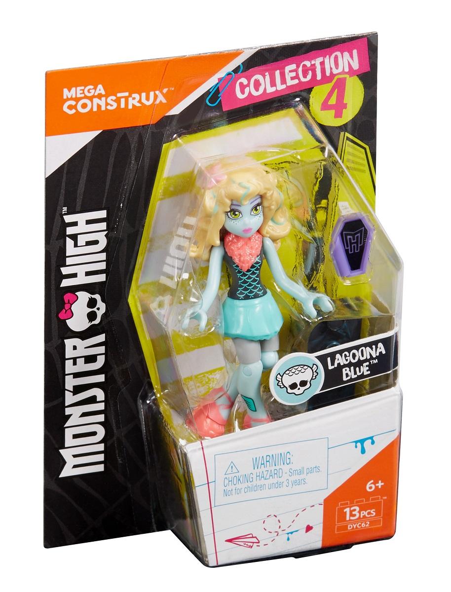 Mega Bloks Monster High Конструктор Базовая фигурка Лагуна Блю фигурка к конструктору mega bloks могучий рейнджер с планером