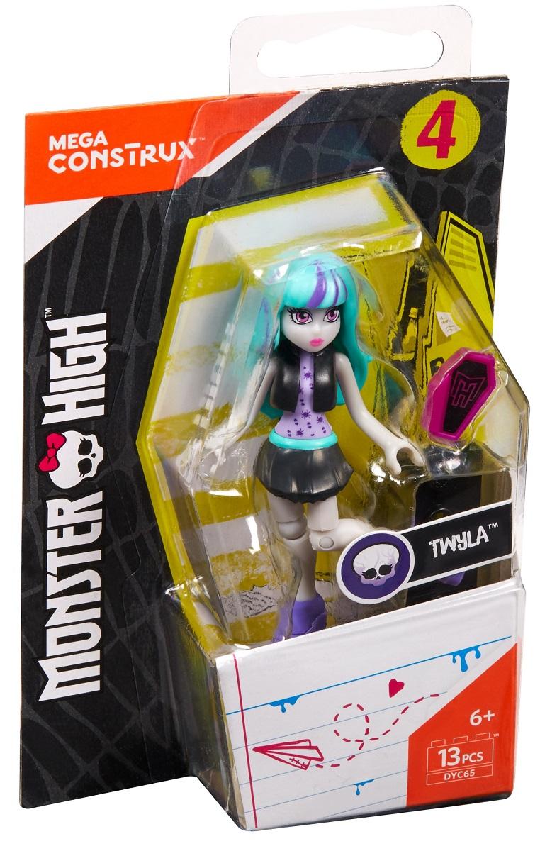 Mega Bloks Monster High Конструктор Базовая фигурка Твайла фигурки игрушки monster high мини фигурка