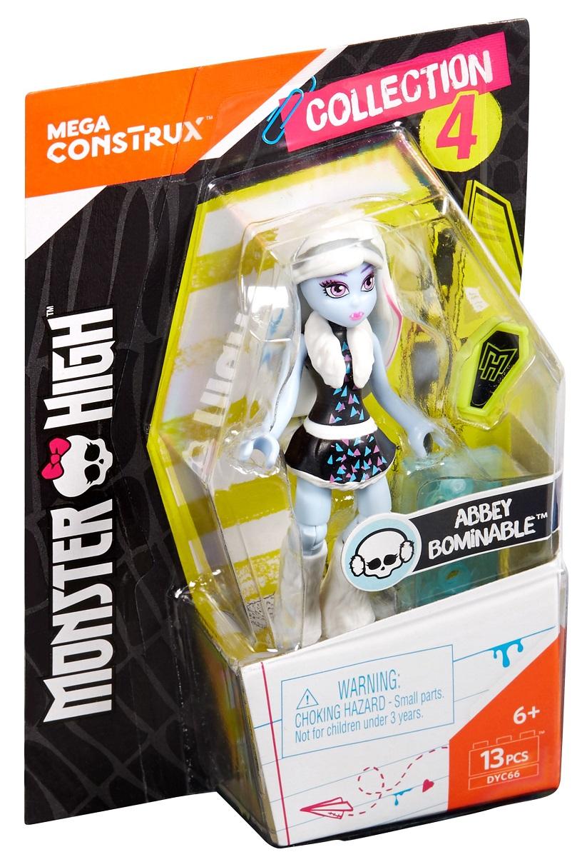 Mega Bloks Monster High Конструктор Базовая фигурка Эбби Боминейбл фигурки игрушки monster high мини фигурка