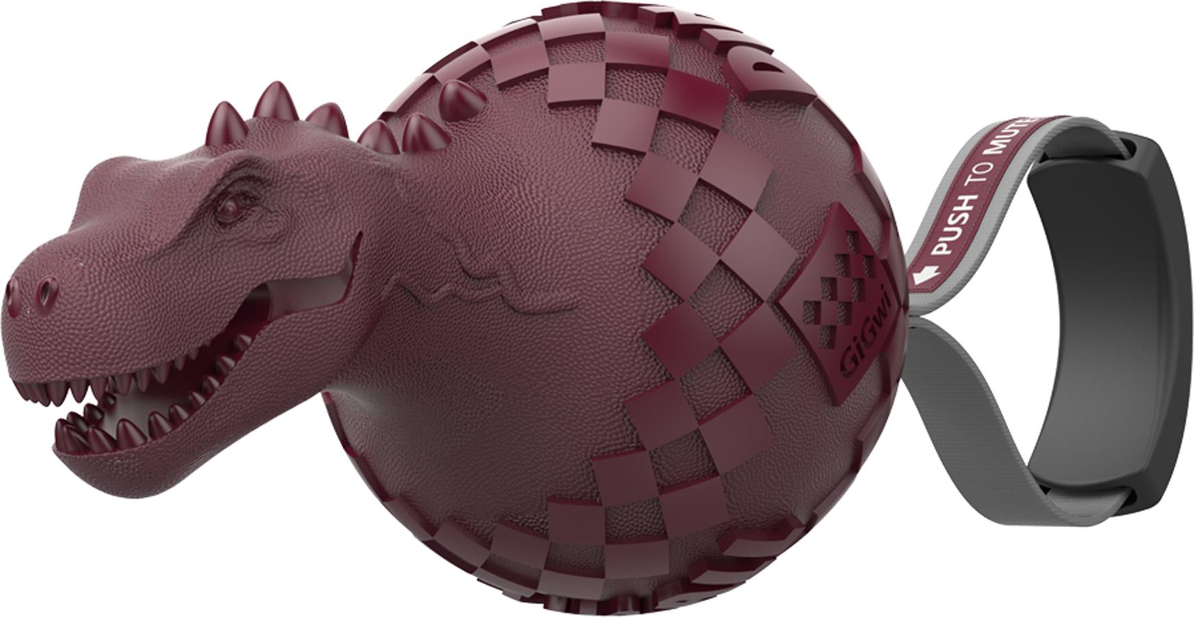 Игрушка для собак GiGwi Динобол Т-рекс, с отключаемой пищалкой игрушка головоломка для собак i p t s smarty 30x19x2 5см