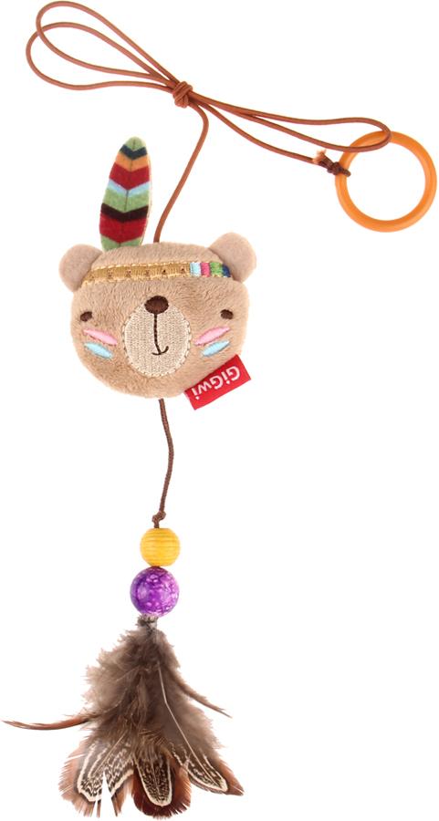 Игрушка-дразнилка для кошек GiGwi Медведь, на палец, 6 см электронная игрушка для кошек gigwi pet droid фезер воблер