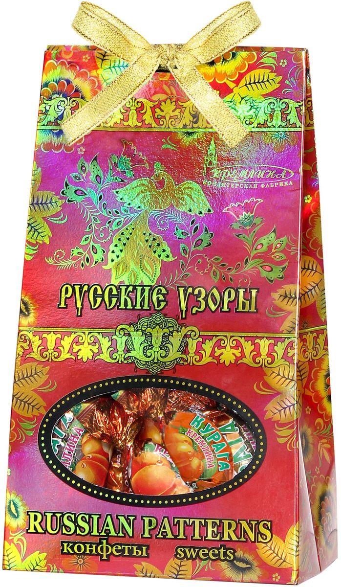 Кремлина Русские узоры курага шоколадная с грецким орехом, 230 г кремлина камин курага шоколадная с грецким орехом конфеты 150 г