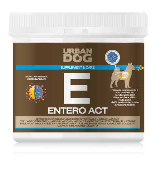 Пищевая добавка для собак Urban Dog Entero Act, для улучшения микрофлоры кишечника, 350 гUD305EN3Пищевая добавкадля собак Urban Dog Entero Act благодаря действию M.O.S. (маннано-олиго-саккариды) восстанавливает правильное развитие форы кишечника и улучшает усвояемость питательных веществ через структурное восстановление стенок кишечника и стимулирует рост шерсти. Entero Act усиливает секрецию иммуноглобулина, ответственного за иммунную защиту слизистой кишечника. Питательная добавка особенно подходит для использования в случаях явного расстройства обмена веществ и диареи.