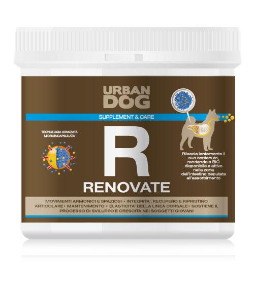 Пищевая добавка для собак Urban Dog Renovate. Питание суставов, 1 кг102.555Пищевая добавка для собак Urban Dog Renovate обеспечивает питание суставов для сохранения целостности и функциональности суставов. Благодаря содержащимся в нём компонентам уменьшается повреждение и износ суставов. Renovate смазывает суставы и стимулирует образование и рост нового хряща. Добавка Renovate показана для особей, привлекаемых для спортивных мероприятий с повышенной нагрузкой на суставы, для случаев посттравматического/послеоперационного восстановления и для старых особей, параллельно с эффективным противовоспалительным действием.Чем кормить пожилых собак: советы ветеринара. Статья OZON Гид