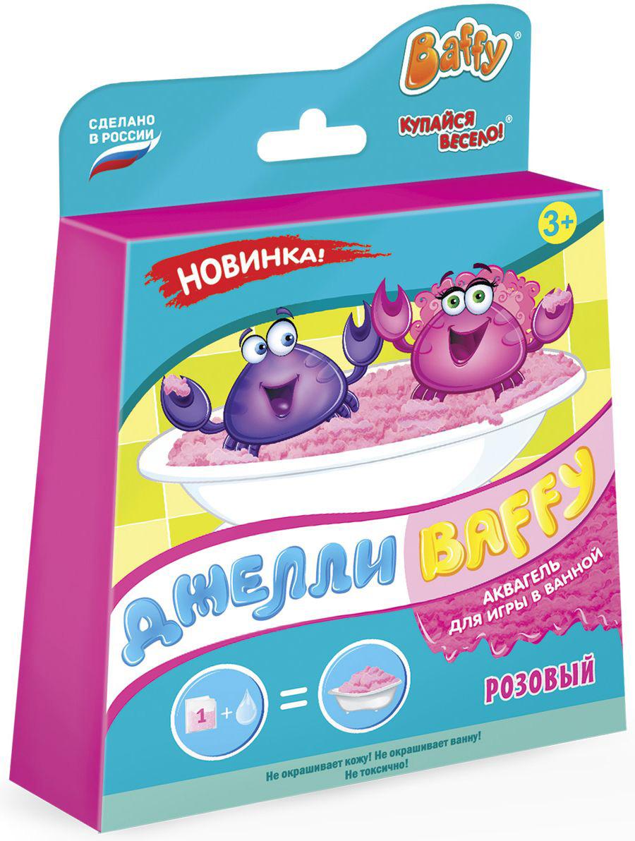 Baffy Набор средств для купания Джелли цвет розовыйD0120Купание превратится в интересную увлекательную игру с помощью аквагеля. Развивайте мелкую моторику у ребенка даже во время принятия ванны! Наблюдайте за волшебством: вода легко превращается в желе и обратно!