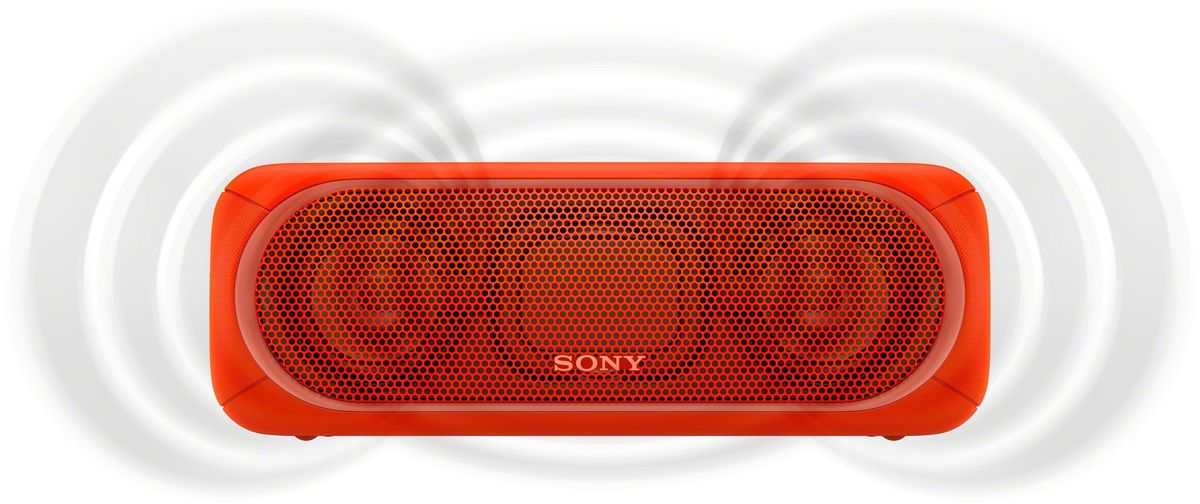 Sony SRS-XB40, Red портативная акустическая системаSRSXB40R.RU4С мощными басами и яркой подсветкой беспроводная акустическая система SRS-XB40 может превратить любое помещение в настоящий ночной клуб.Чтобы раскачать вечеринку, просто нажмите кнопку EXTRA BASS. Двойные пассивные излучатели в сочетании с полнодиапазонными стереодинамиками усиливают звучание низких частот, придавая им неожиданную глубину для такой компактной системы.Встроенная многоцветная линейная подсветка, стробоскоп и подсветка динамиков помогут вам увидеть ритм своими глазами.Беспроводную акустическую систему SRS-XB40 можно брать с собой куда угодно: она удобна в переноске, не боится воды и не разрядится до самого окончания вечеринки.Любимая музыка будет с вами всегда и везде, даже у бассейна или на берегу моря: благодаря защите IPX5 эта беспроводная акустическая система не боится воды.Слушайте музыку день и ночь напролет: эта система работает от аккумулятора до 24 часов, а когда понадобится подзарядка, система сама сообщит вам голосовым уведомлением.Устройте настоящую танцевальную вечеринку, объединив до 10 динамиков по Bluetooth в одну беспроводную систему с помощью функции Party Chain для одновременного воспроизведения музыки и настройки световых эффектов.Быстро и легко управляйте воспроизведением со смартфона через приложение Sony | Music Center (ранее называвшееся SongPal). Просто установите приложение и регулируйте звук, подсветку и прочие настройки.Управляйте воспроизведением музыки, подсветкой и DJ-эффектами прямо со смартфона в приложении Fiestable.Слушайте музыку без проводов в непревзойденном качестве: кодек LDAC позволяет передавать примерно втрое больше данных (на макс. скорости 990 кбит/с) по сравнению со стандартным протоколом Bluetooth.Подключите смартфон по NFC, просто приложив его к акустической системе, - и начинайте веселиться.Подключите смартфон по USB для одновременной зарядки и воспроизведения музыки.