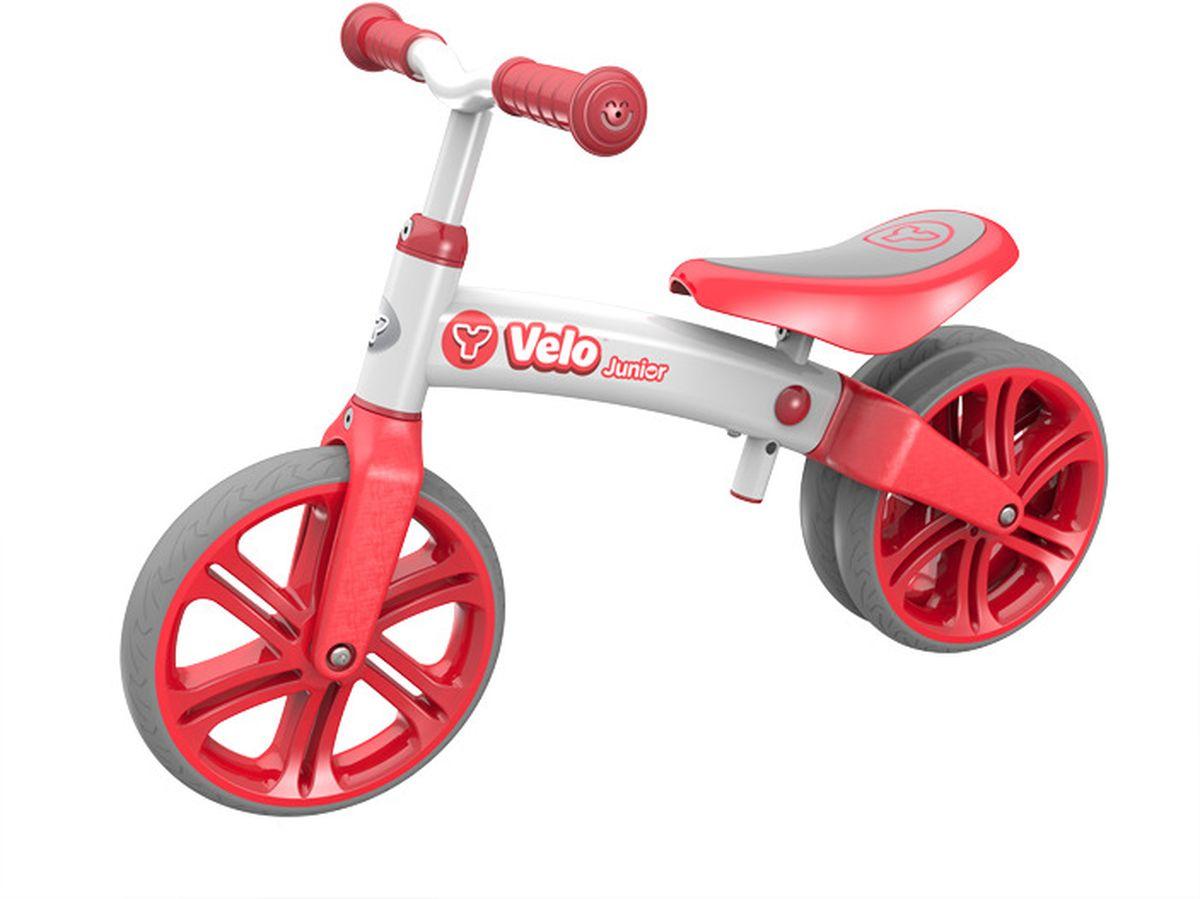 Y-VolutionБеговел двухколесный Velo Junior с двойным колесом цвет красный Y-Volution