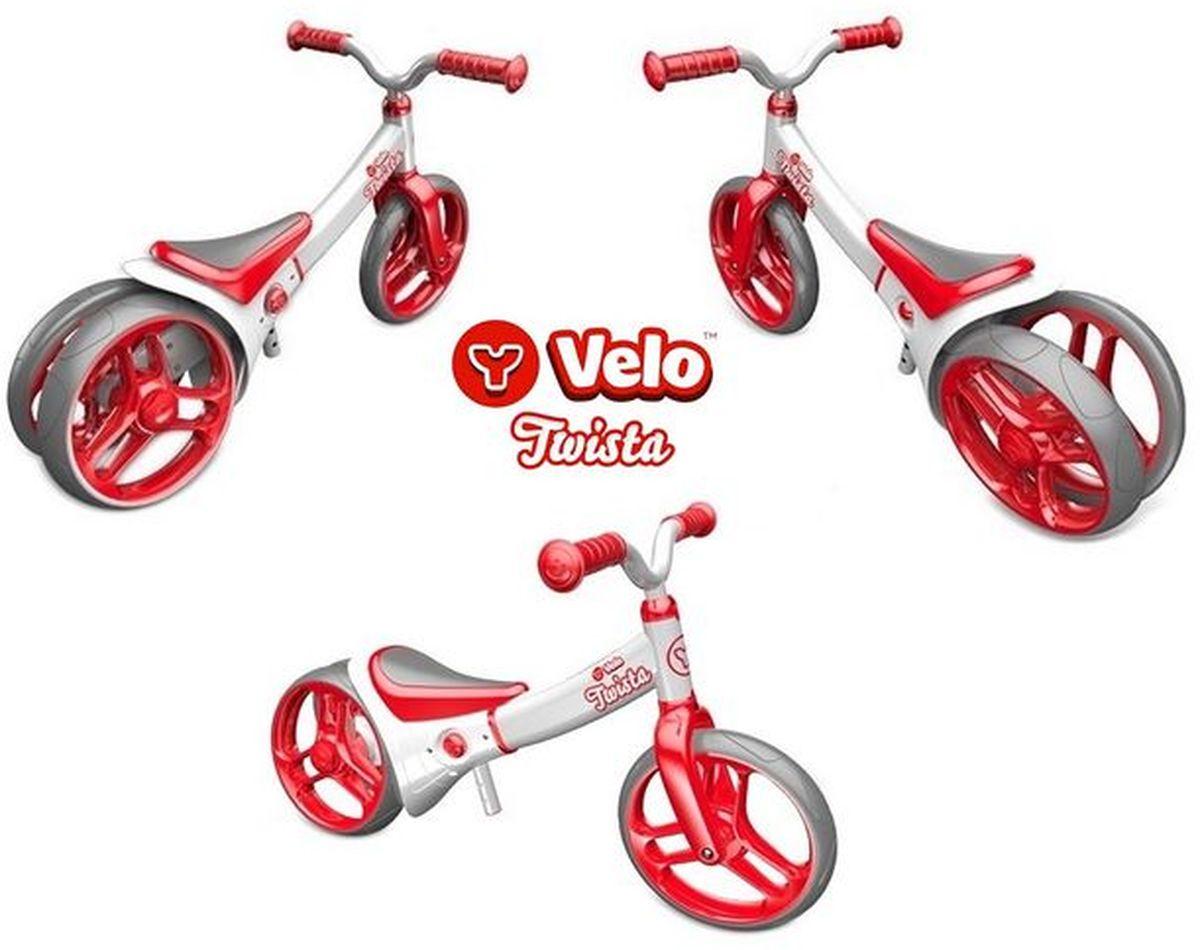 Y-VolutionБеговел двухколесный Velo Twista с двойным регулируемым колесом Y-Volution