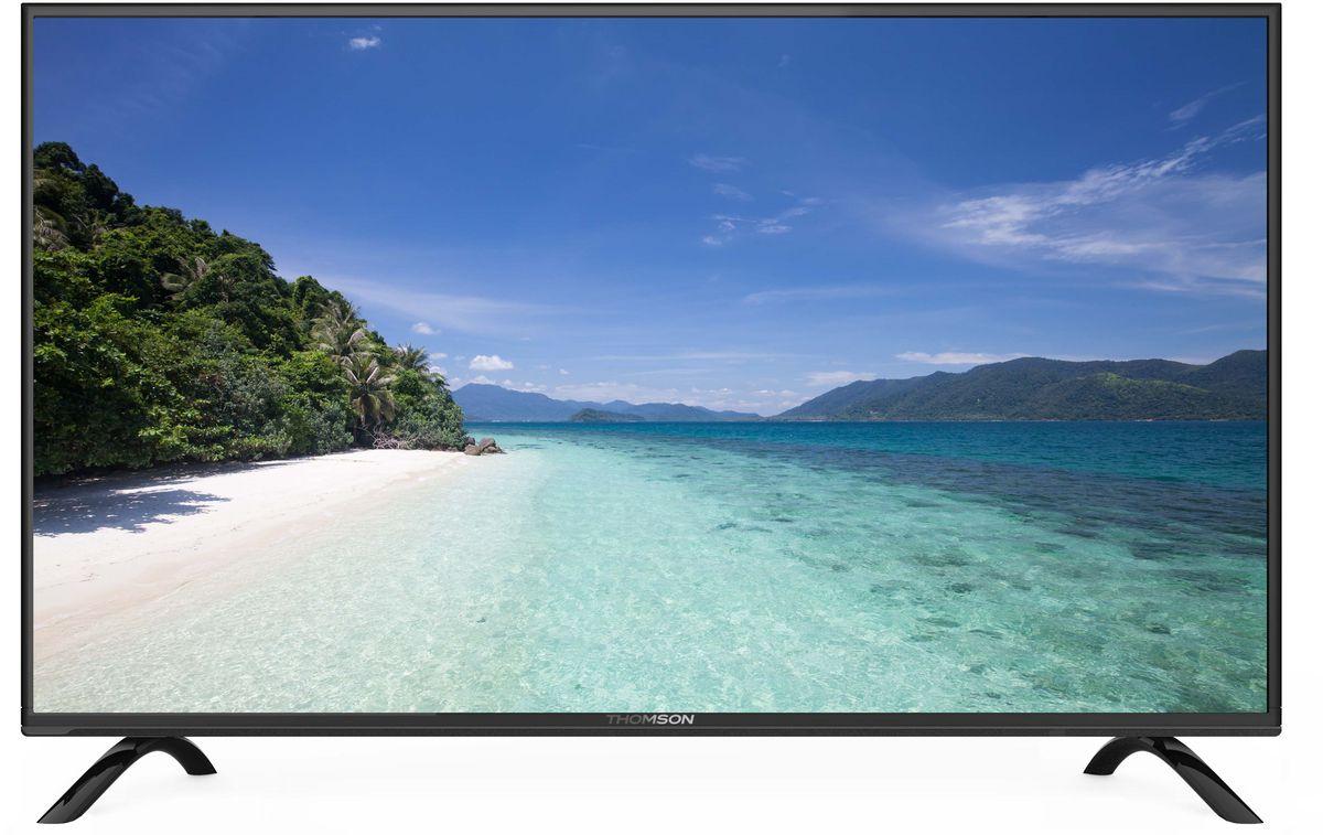 Thomson T40D21SF-01B телевизорT40D21SF-01BТелевизор Thomson T40D21SF-01Bс диагональю 40 дюймов оборудован LED подсветкой и поддерживает разрешение HD (1366х768). Оснащен системой динамиков 2.0, выдающих звук общей мощностью 10 Вт. Источником сигнала для качественной реалистичной картинки служат не только цифровые эфирные и кабельные каналы, но и любые записи с внешних носителей, благодаря универсальному встроенному USB медиаплееру. 3 HDMI-порта позволяют подключать современные устройства.Thomson T40D21SF-01B обладает рядом функций, позволяющих добиться наилучшего качества картинки и звука. В их числе шумоподавление. Кроме того, телевизор оснащен удобной функцией TimeShift, благодаря которой при условии подключения к ТВ USB-накопителя, телевизионные трансляции можно ставить на паузу.