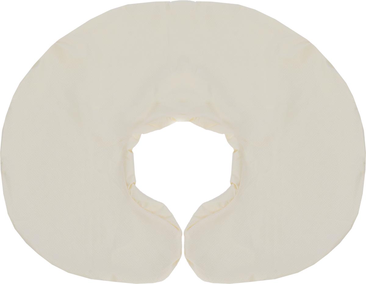 """Съемная наволочка на молнии """"Body Pillow"""" нежного бежево-молочного цвета с рельефным римским узором """"Квадратики"""" из микрофибры, очень практичный цвет. Подходит для подушки в виде рогалика. Чехол не выгорает, не растягивается, не садится после стирки и абсолютно безопасен для вашего здоровья и здоровья малыша.  Способ ухода: рекомендуется машинная стирка в режиме """"при 30 градусах"""". Перед использованием чехол рекомендуется постирать."""