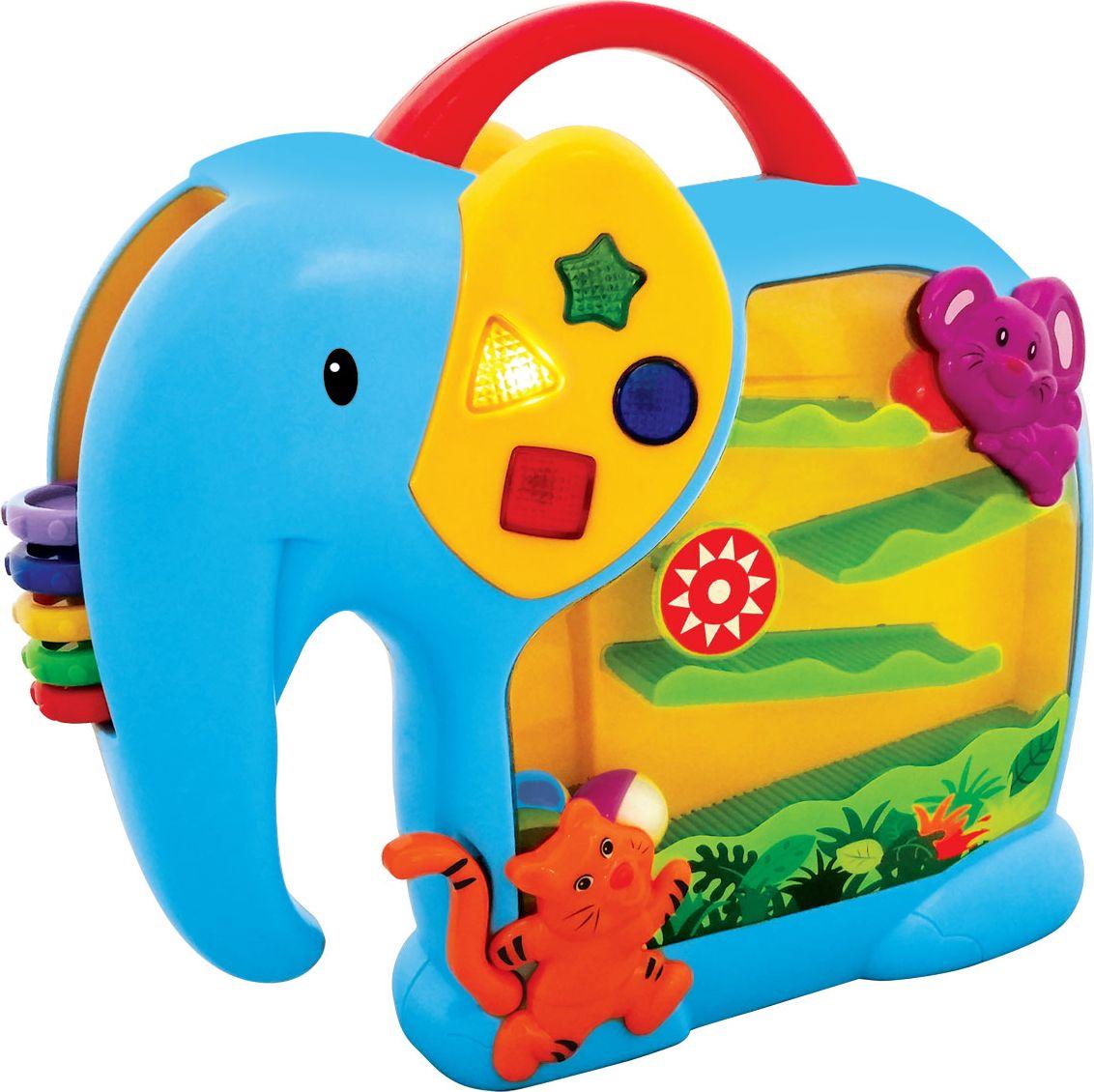 Kiddieland Развивающая игрушка Занимательный слон kiddieland развивающая игрушка забавная камера