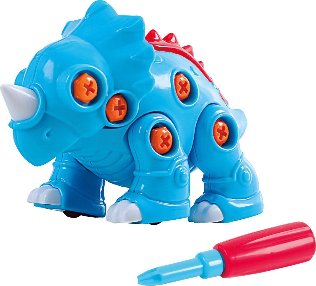 Playgo Конструктор Собери динозавра Трицератопс playgo игровой набор корзина с выпечкой