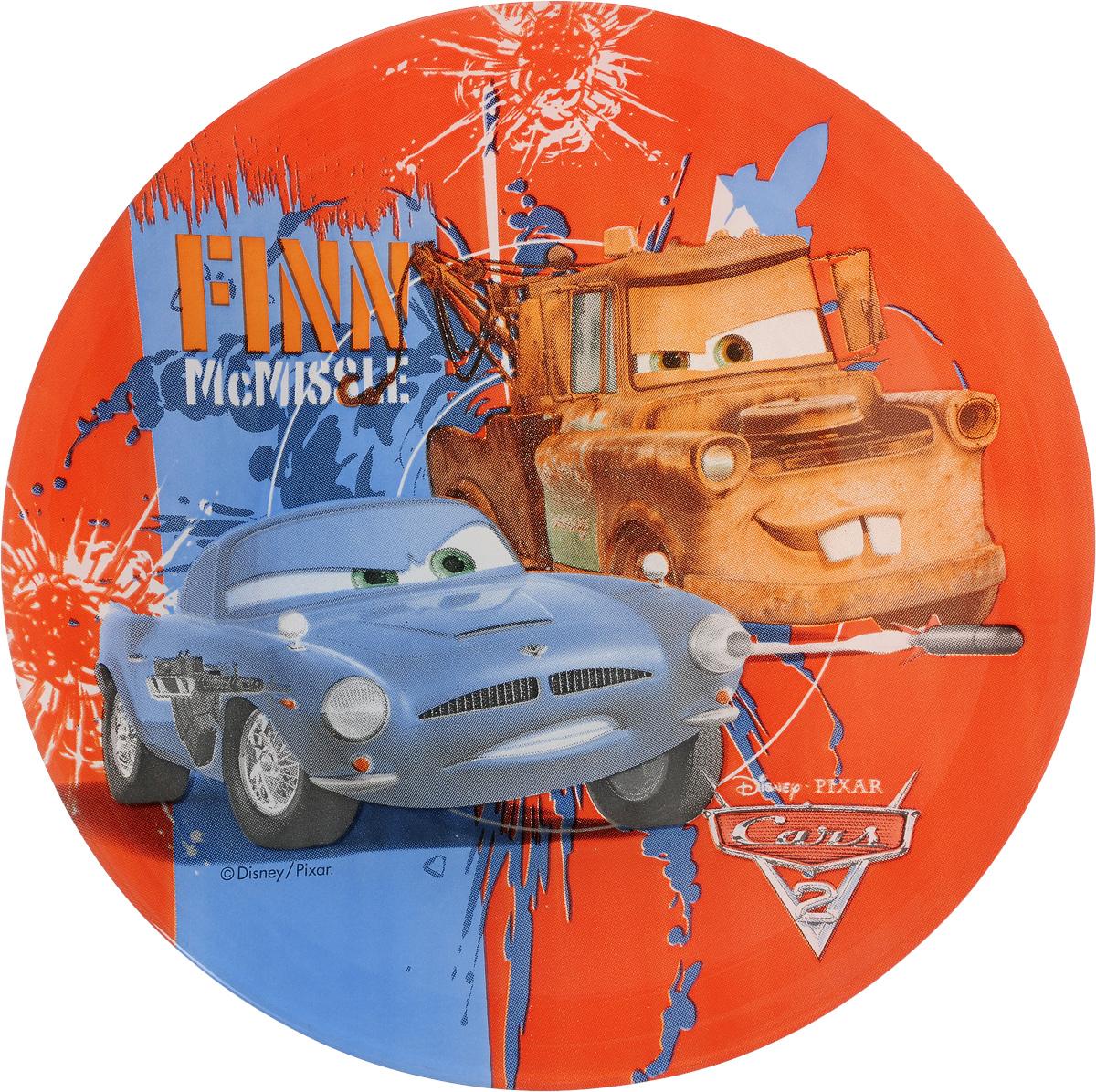 """Фото Тарелка десертная Luminarc """"Disney Cars 2"""", диаметр 19,5 см"""