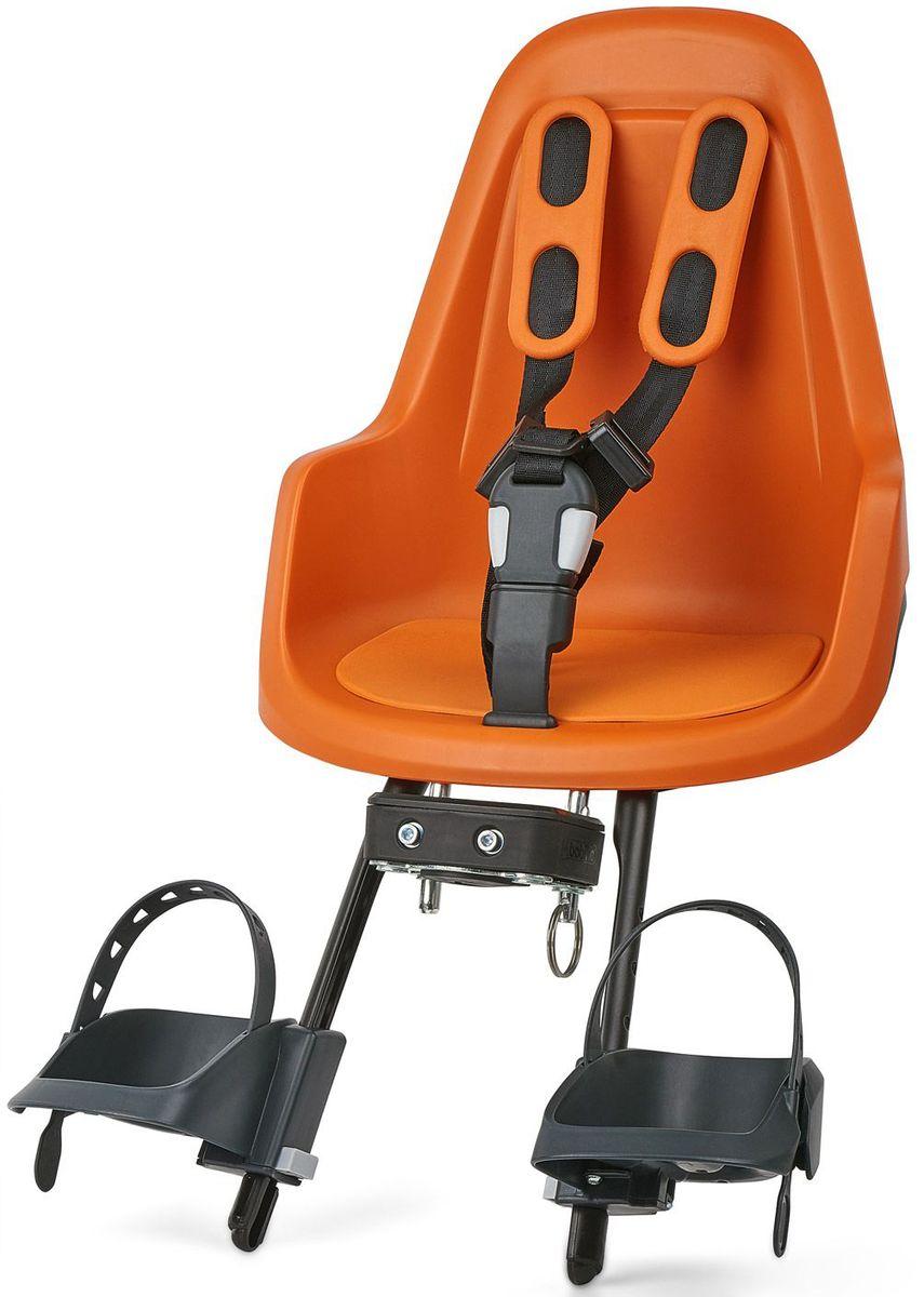 Велокресло переднее Bobike One Mini, крепление на руль, цвет: оранжевый