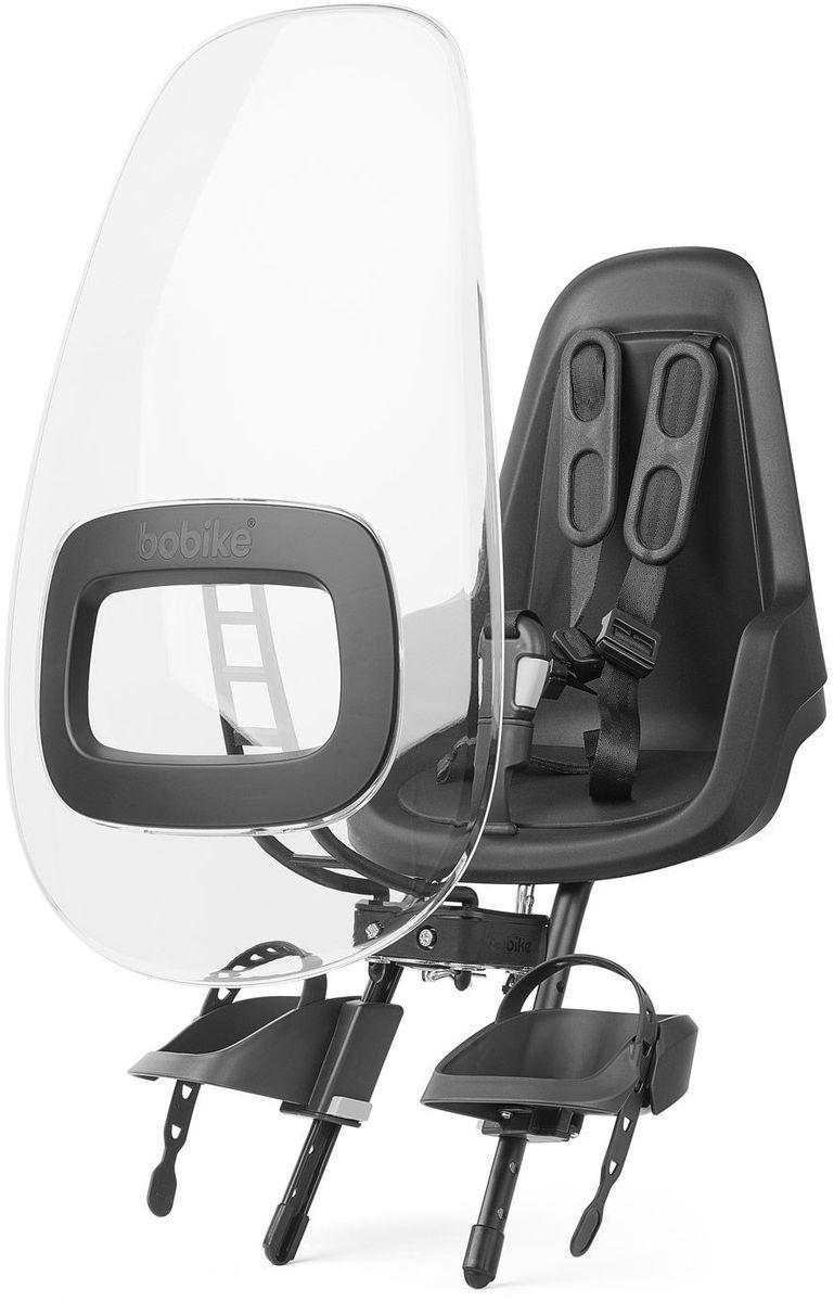 Ветровое стекло для велокресел Bobike Windscreen One +, цвет: черный8015500001Ветровое стекло Bobike One+ сделано из крепкого, ударопрочного и полностью прозрачного пластика. Его привлекательный дизайн и цветовые акценты отлично сочетаются с вашим велокреслом Bobike One Mini. Ветровое стекло регулируется по наклону и обеспечивает полную защиту ребёнка от ветра и дождя. Вы можете установить лобовое стекло прямо в крепёж велокресла. Система крепления Click & Go позволяет быстро и без инструментов установить и снять стекло, а так же переставить его между разными велокреслами.- Для велокресел Bobike;- Ударопрочная конструкция;- Система Click & Go;- Регулируемый наклон стекла;- Совместимо с велокреслами Bobike One Mini;- Установка без инструментов;- Голландский дизайн; - Сделано в Европе.