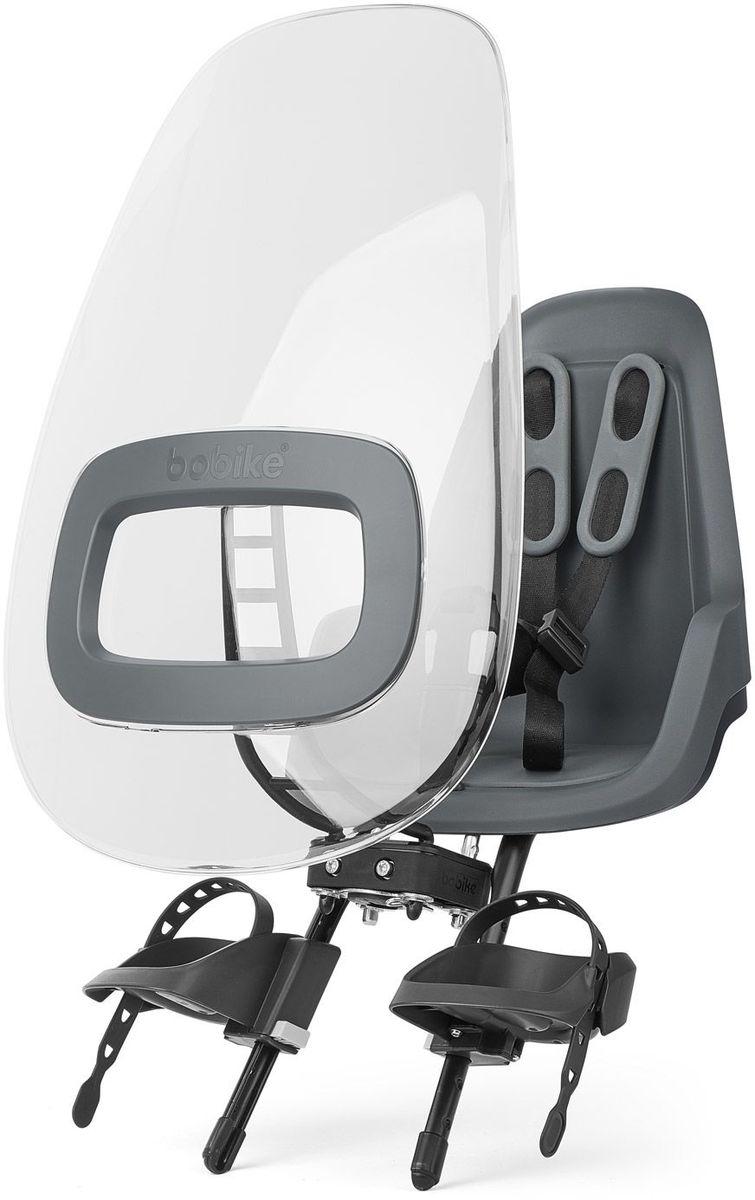 Ветровое стекло для велокресел Bobike Windscreen One +, цвет: серый велокресло bobike one mini coffee brown