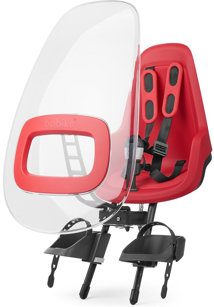 Ветровое стекло для велокресел Bobike Windscreen One +, цвет: красный велокресло bobike one mini coffee brown