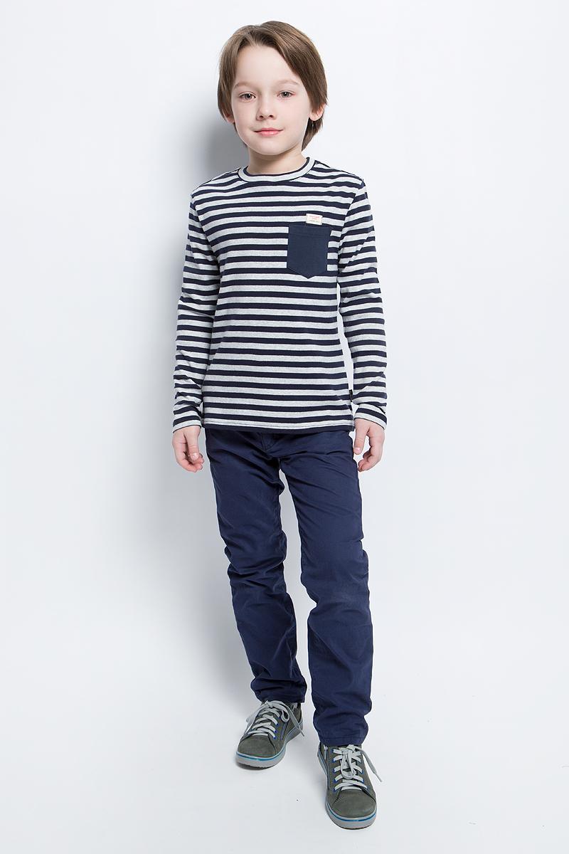 Брюки для мальчика Tom Tailor, цвет: синий. 6404669.00.82_6811. Размер 1106404669.00.82_6811Детские брюки свободного кроя выполнены из высококачественного материала. Модель застегивается в поясе на пуговицу, ширинку на застежку-молнию и дополнительно шнурком-кулиской на талии. Брюки дополнены шлевками и двумя боковыми карманами.