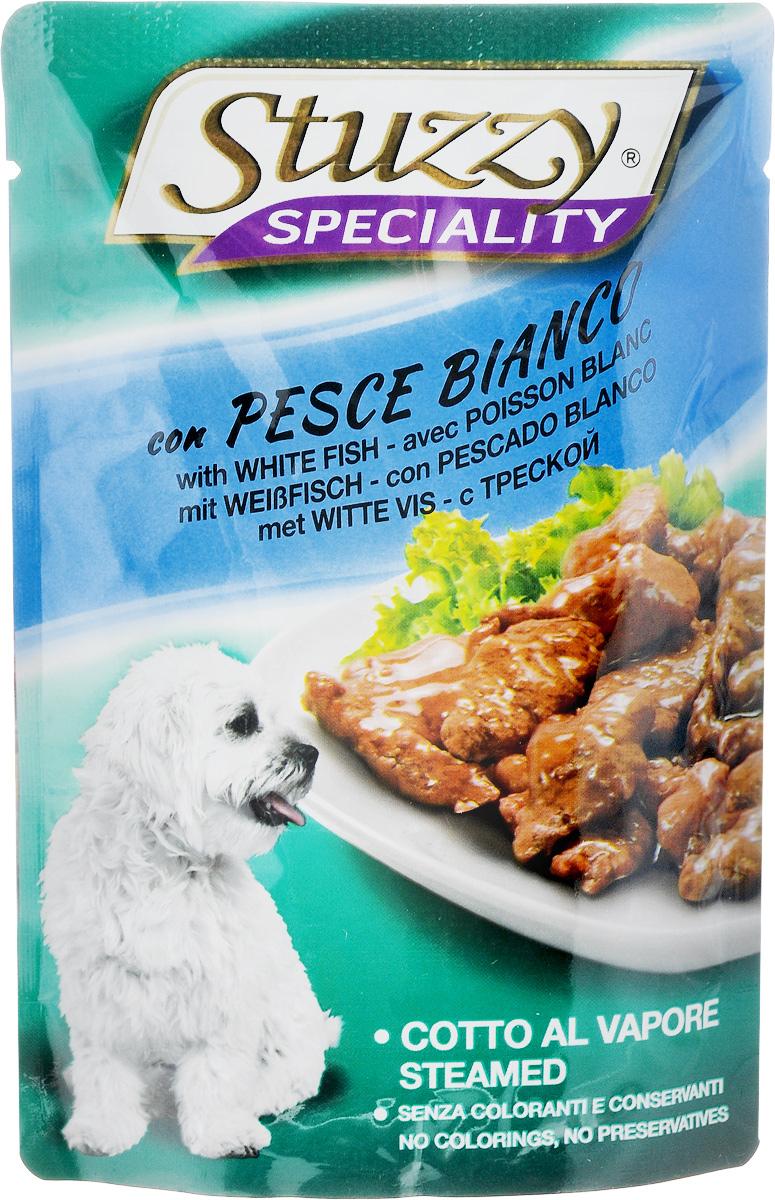 Консервы Stuzzy Speciality, для взрослых собак, с треской, 100 г консервы stuzzy speciality для взрослых кошек с телятиной 100 г