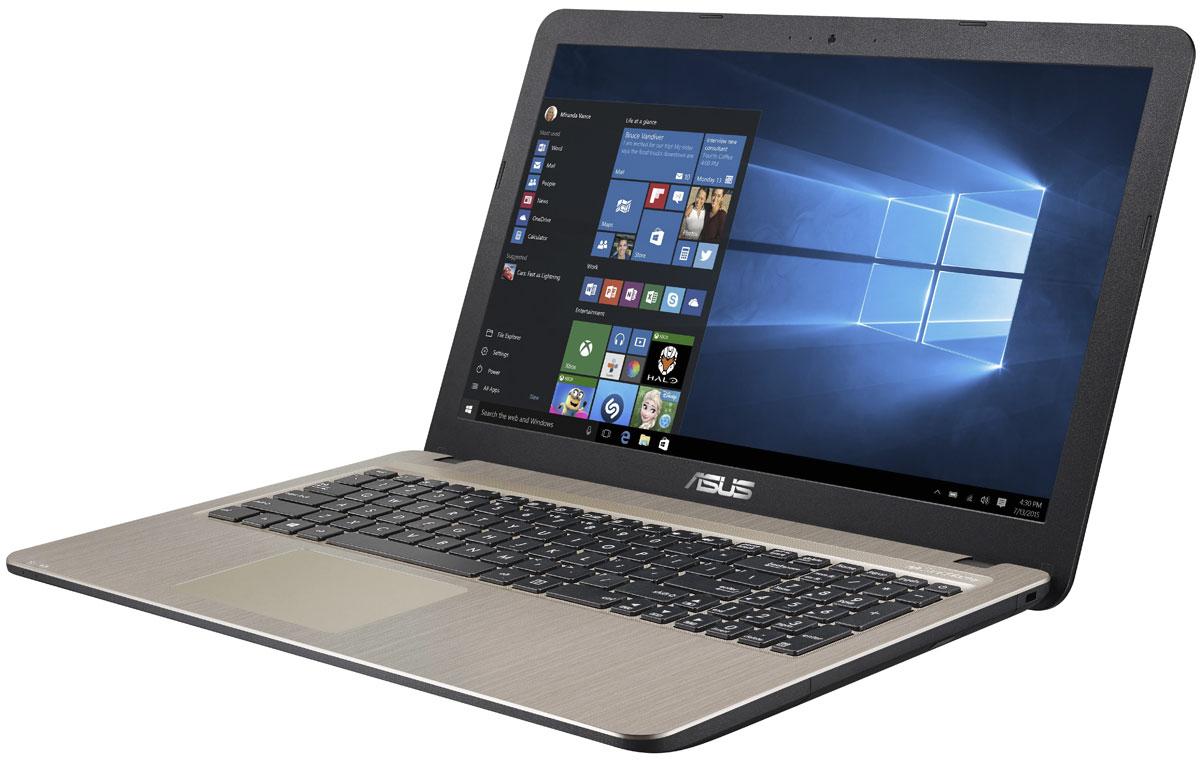 ASUS X540LJ-XX528T, Chocolate BlackX540LJ-XX528TASUS X540LJ - это современный стильный ноутбук для ежедневного использования как дома, так и в офисе.Для быстрого обмена данными с периферийными устройствами ASUS X540LJ предлагает высокоскоростной порт USB 3.1 (5 Гбит/с), выполненный в виде обратимого разъема Type-C. Его дополняют традиционные разъемы USB 2.0 и USB 3.0. В число доступных интерфейсов также входят HDMI и VGA, которые служат для подключения внешних мониторов или телевизоров, и разъем проводной сети RJ-45. Кроме того, у данной модели имеются оптический привод и кард-ридер формата SD/SDHC/SDXC. Благодаря эксклюзивной аудиотехнологии SonicMaster встроенная аудиосистема ноутбука может похвастать мощным басом, широким динамическим диапазоном и точным позиционированием звуков в пространстве. Кроме того, ее звучание можно гибко настроить в зависимости от предпочтений пользователя и окружающей обстановки. Круглые динамики с большими резонансными камерами (19,4 см3) обеспечивают улучшенную передачу низких частот и пониженный уровень шумов. Для настройки звучания служит функция AudioWizard, предлагающая выбрать один из пяти вариантов работы аудиосистемы, каждый из которых идеально подходит для определенного типа приложений (музыка, фильмы, игры, звукозапись и воспроизведение голоса).Ноутбук ASUS X540LJ выполнен в прочном, но легком корпусе весом всего 1,9 кг, поэтому он не будет обременять своего владельца в дороге, а привлекательный дизайн и красивая отделка корпуса превращают его в современный, стильный аксессуар.В данной модели реализована разработанная специалистами Asus технология Splendid, позволяющая выбрать один из нескольких предустановленных режимов работы дисплея, каждый из которых оптимизирован под определенные приложения: режим Vivid подходит для просмотра фотографий и фильмов, режим Normal - для обычной работы в офисных приложениях, а в специальном режиме Eye Care реализована фильтрация синей составляющей видимого спектра для повышения комфорта при ч