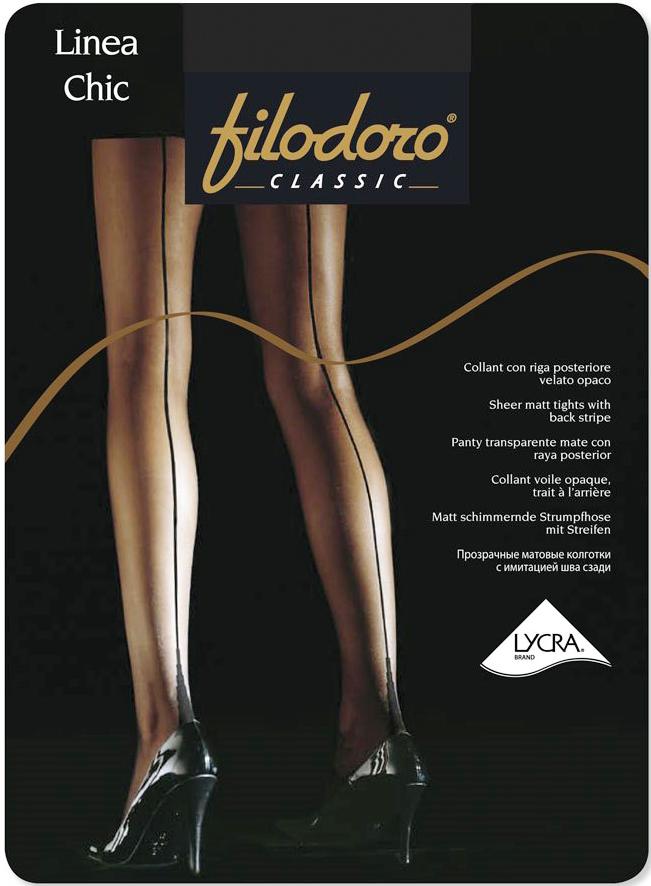 Колготки Filodoro Classic Linea Chic 20, цвет: Nero (черный). Размер 4 колготки filodoro slim control top размер 2 плотность 40 den nero