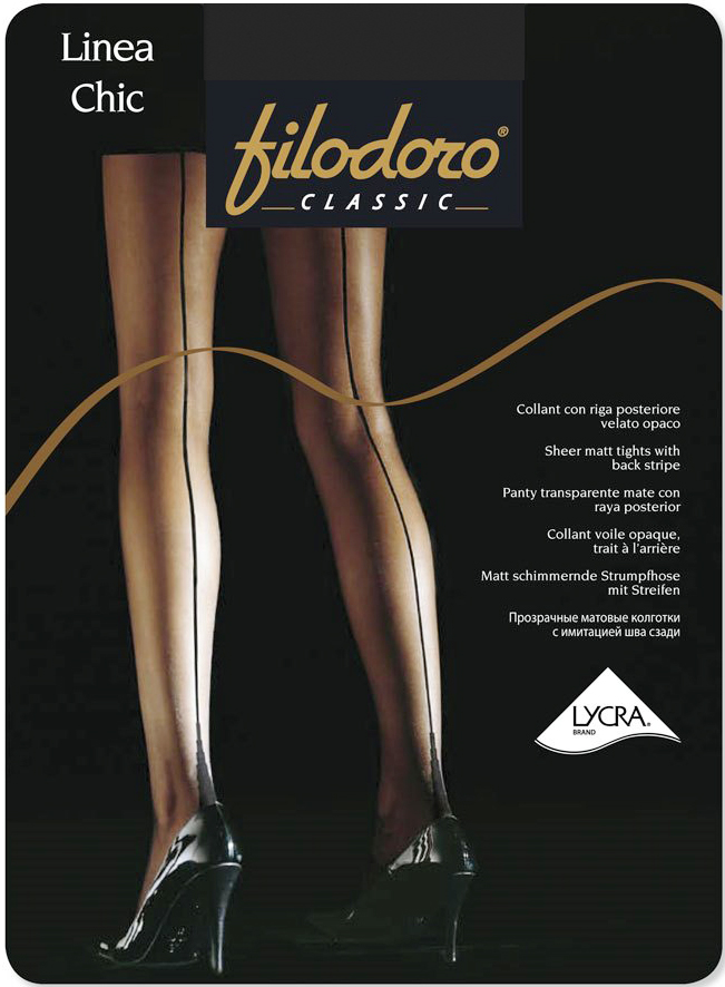 Колготки Filodoro Classic Linea Chic 20, цвет: Nero (черный). Размер 4 колготки filodoro cotton wool размер 4 плотность 100 den nero
