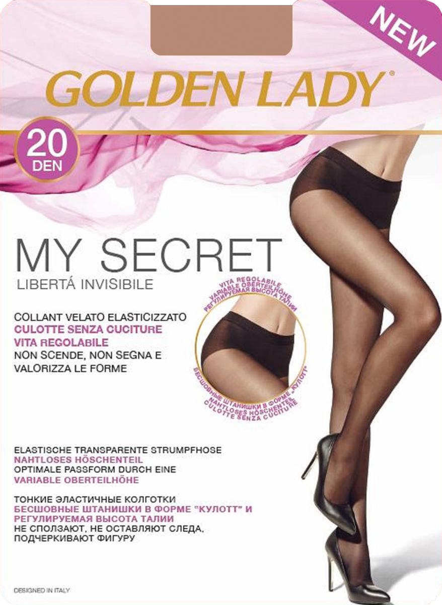 Колготки Golden Lady My Secret 20, цвет: Daino (загар). Размер 2My Secret 20Тонкие эластичные колготки Golden Lady - бесшовные штанишки в форме кюлотт и регулируемая высота талии. Не сползают, не оставляют следа, подчеркивают фигуру.