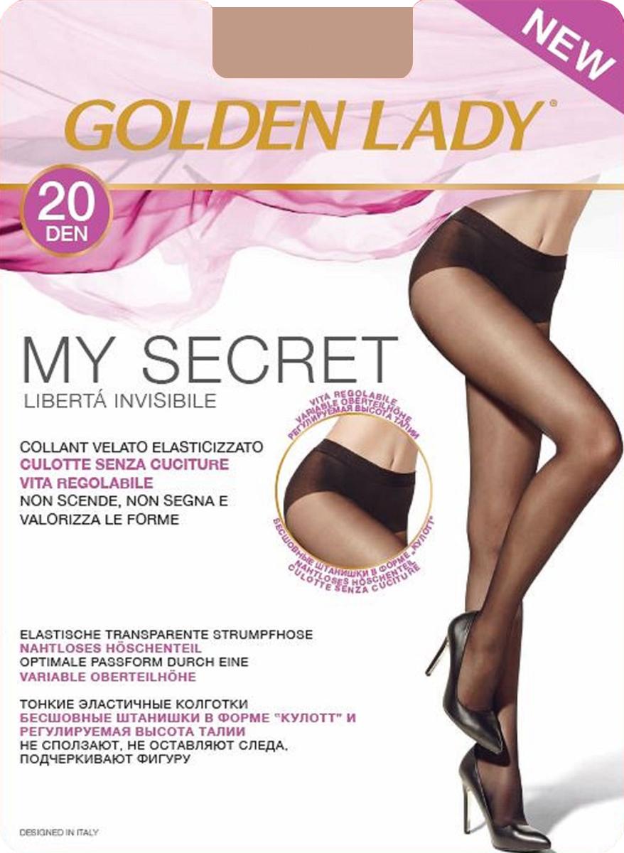 Колготки Golden Lady My Secret 20, цвет: Melon (телесный). Размер 2My Secret 20Тонкие эластичные колготки Golden Lady - бесшовные штанишки в форме кюлотт и регулируемая высота талии. Не сползают, не оставляют следа, подчеркивают фигуру.