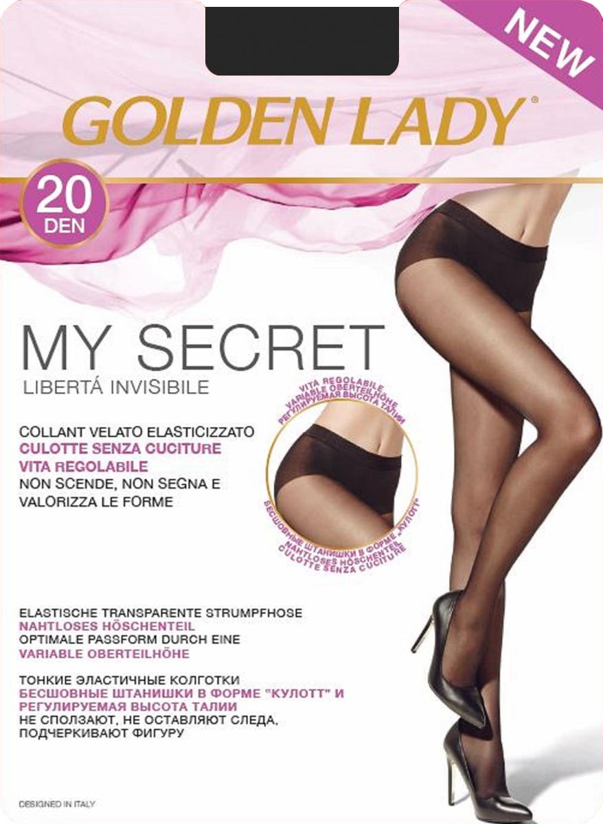 Колготки Golden Lady My Secret 20, цвет: Nero (черный). Размер 3My Secret 20Тонкие эластичные колготки Golden Lady - бесшовные штанишки в форме кюлотт и регулируемая высота талии. Не сползают, не оставляют следа, подчеркивают фигуру.
