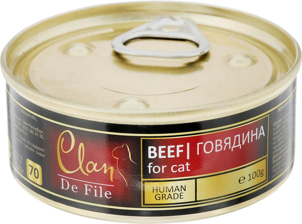 Консервы для кошек Clan De File, с говядиной, 100 г консервы для кошек clan de file с ягненком 340 г