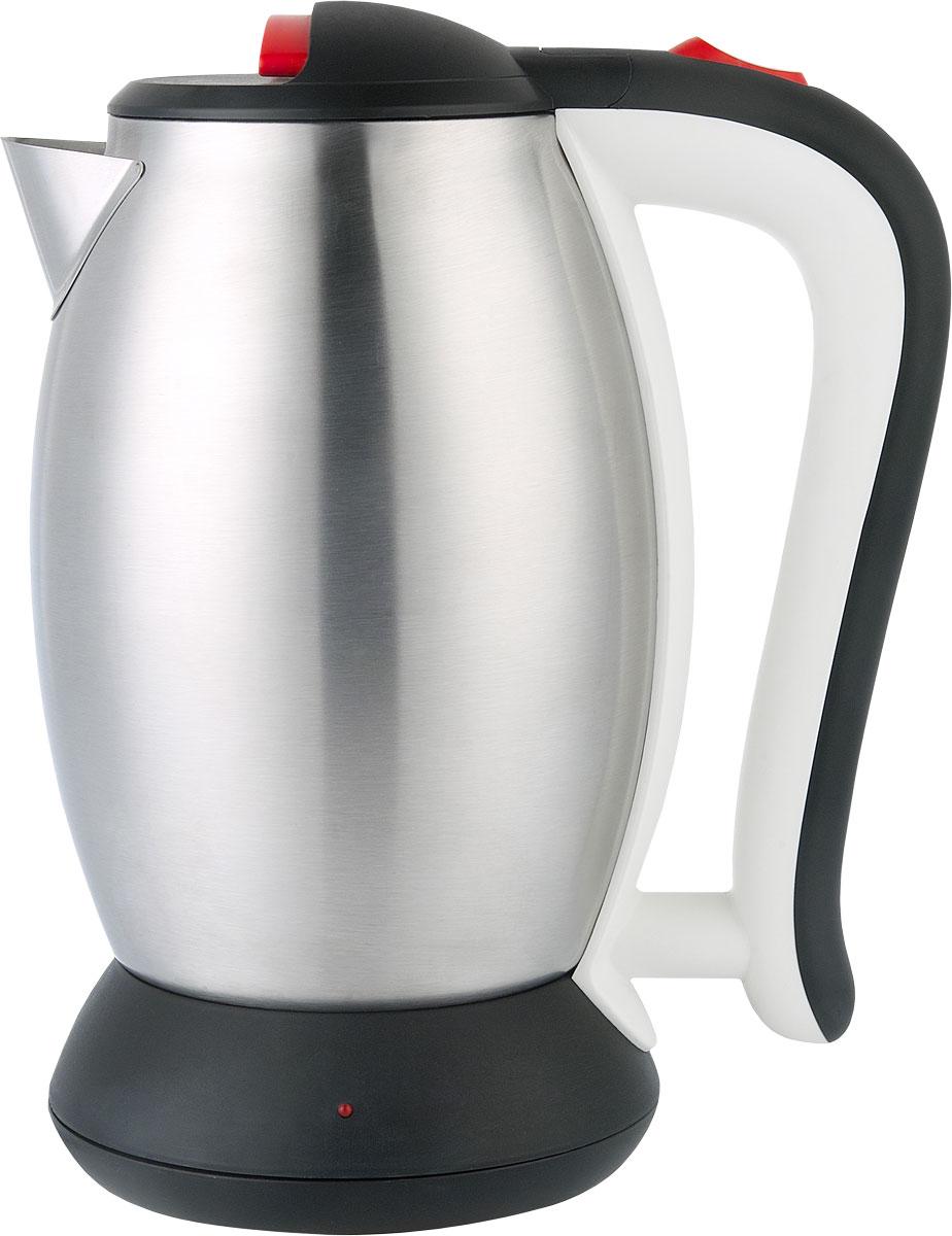 Irit IR-1333 электрический чайник79 02705Электрический чайник Irit IR-1333 прост в управлении и долговечен в использовании. Корпус изготовлен из высококачественных материалов. Мощность 1350 Вт быстро вскипятит 2 литра воды. Беспроводное соединение позволяет вращать чайник на подставке на 360°. Для обеспечения безопасности при повседневном использовании предусмотрены функция автовыключения, а также защита от включения при отсутствии воды.