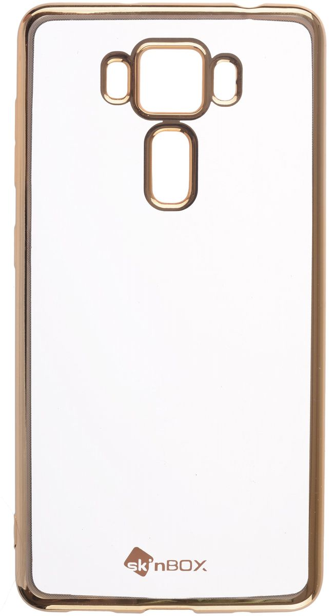 Skinbox 4People Silicone Chrome Border чехол для ASUS Zenfone 3 Delux (ZS550KL), Gold