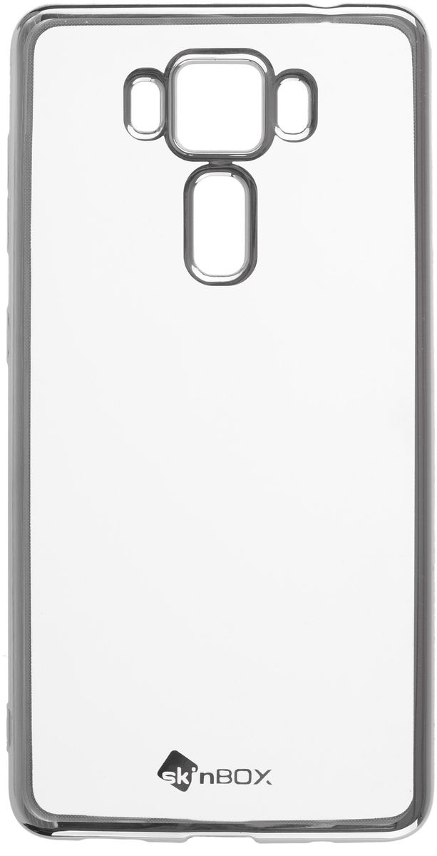Skinbox 4People Silicone Chrome Border чехол для ASUS Zenfone 3 Delux (ZS550KL), Silver чехол skinbox asus zenfone zoom zx551ml