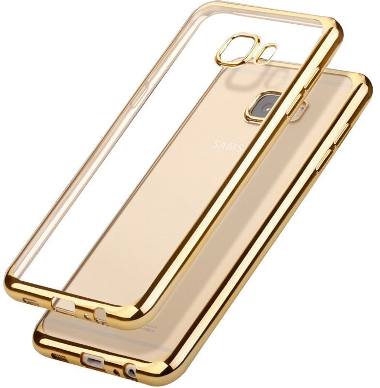 Skinbox 4People Silicone Chrome Border чехол для Samsung Galaxy A3 (2017), Gold skinbox slim silicone чехол для samsung galaxy a3 2017 transparent