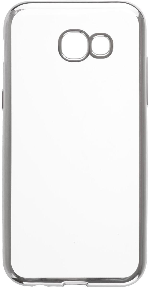 Skinbox 4People Silicone Chrome Border чехол для Samsung Galaxy A5 (2017), Silver2000000125022Чехол-накладка Skinbox 4People Silicone Chrome Border для Samsung Galaxy A5 (2017) обеспечивает надежную защиту корпуса смартфона от механических повреждений и надолго сохраняет его привлекательный внешний вид. Накладка выполнена из высококачественного силикона, плотно прилегает и не скользит в руках. Чехол также обеспечивает свободный доступ ко всем разъемам и клавишам устройства.
