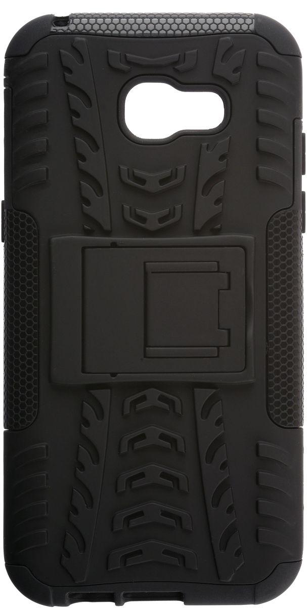 Skinbox Defender Case чехол для Samsung Galaxy A5 (2017), Black2000000132044Чехол надежно защищает ваш смартфон от внешних воздействий, грязи, пыли, брызг. Он также поможет при ударах и падениях, не позволив образоваться на корпусе царапинам и потертостям. Чехол обеспечивает свободный доступ ко всем функциональным кнопкам смартфона и камере.