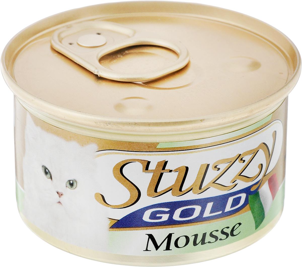 Консервы для взрослых кошек Stuzzy Gold, с телятиной, 85 г132.C421Консервы для кошек Stuzzy Gold - это дополнительный рацион для взрослых кошек. Корм обогащен таурином и витамином Е для поддержания правильной работы сердца и иммунной системы. Инулин обеспечивает всасывание питательных веществ, а биотин способствуют великолепному внешнему виду кожи и шерсти. Корм приготовлен на пару, не содержит красителей и консервантов.Состав: мясо и мясные субпродукты 60% (из них телятина10%).Питательная ценность: белок 11%, жир 8%, клетчатка 0,2%, зола 2,7%, влажность 78%. Питательные добавки (на кг): витамин А 1177 МЕ, витамин D3 700 МЕ, витамин Е 40 мг, таурин 300 мг, железо 63,14 мг, цинк 40,8 мг, медь 2,32 мг, марганец 3,25 мг, селен 0,155 мг, йод 0,76 мг, смола кассии 3000 мг. Товар сертифицирован.