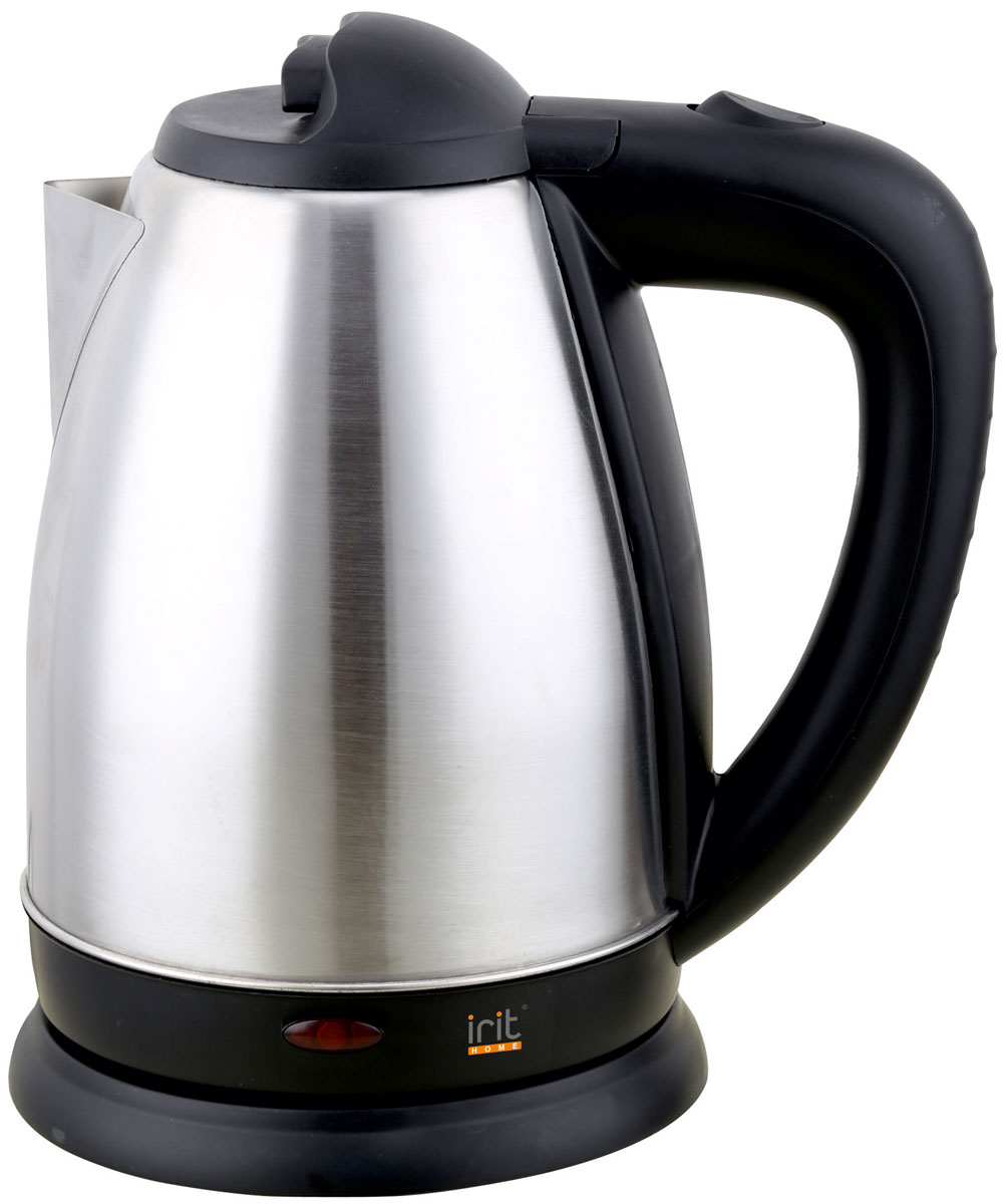Irit IR-1321 электрический чайник79 01904Электрический чайник Irit IR-1321 прост в управлении и долговечен в использовании. Изготовлен из высококачественных материалов. Мощность 1500 Вт вскипятит 1,8 литра воды в считанные минуты. Беспроводное соединение позволяет вращать чайник на подставке на 360°. Для обеспечения безопасности при повседневном использовании предусмотрены функция автовыключения, а также защита от включения при отсутствии воды.