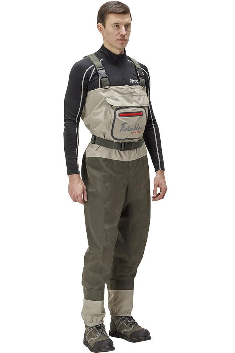 Вейдерсы мужские FisherMan Nova Tour Аэр V2, цвет: хаки. 95942-530. Размер XL (54)