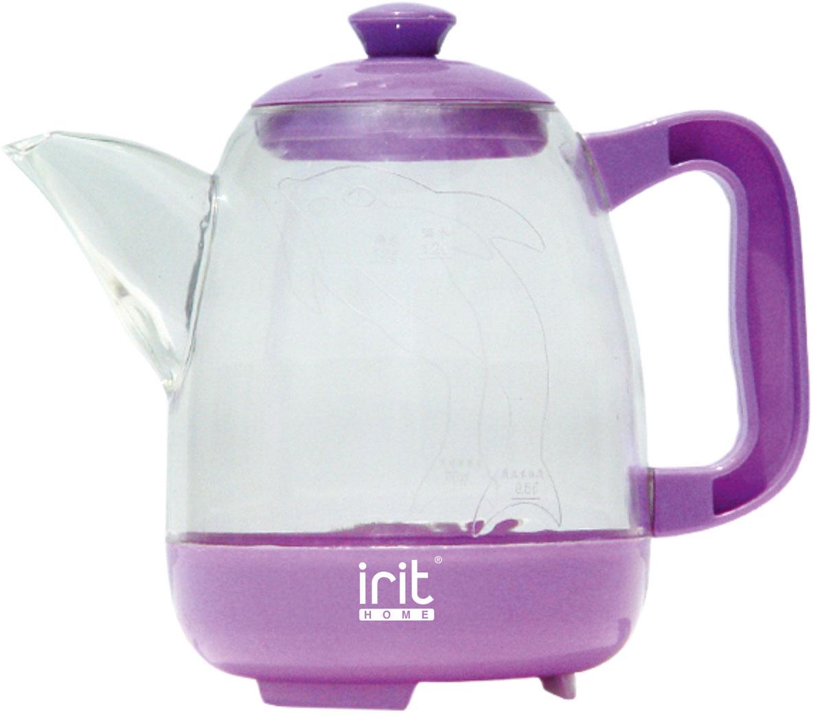 Irit IR-1125 электрический чайник79 02593Электрический чайник Irit IR-1125 прост в управлении и долговечен в использовании. Корпус изготовлен из термостойкого пластика. Мощность 600 Вт быстро вскипятит 1,2 литра воды.