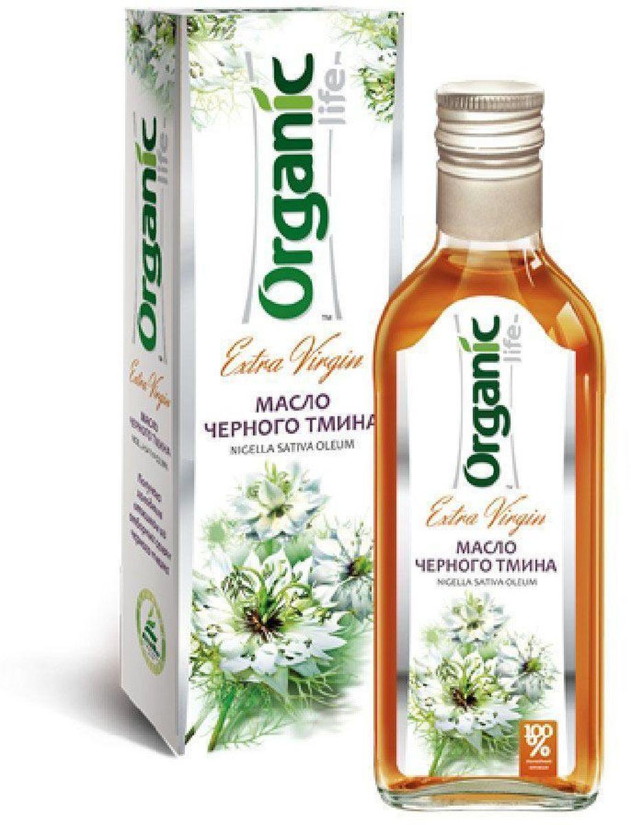 Organic Life масло черного тмина, 250 мл масла malak bio масло чёрного тмина