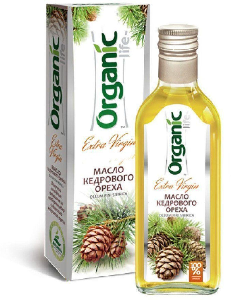 Organic Life масло кедрового ореха, 250 мл organic life масло рыжиковое 250 мл