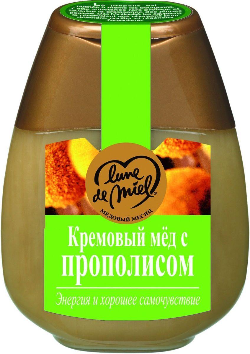 Lune de Miel Кремовый мед с зеленым прополисом, диспенсер, 250 г430106Линия Лечебный мед. Мед с зеленым прополисом применяется не только для лечения, но и в большей степени для профилактики различных заболеваний.