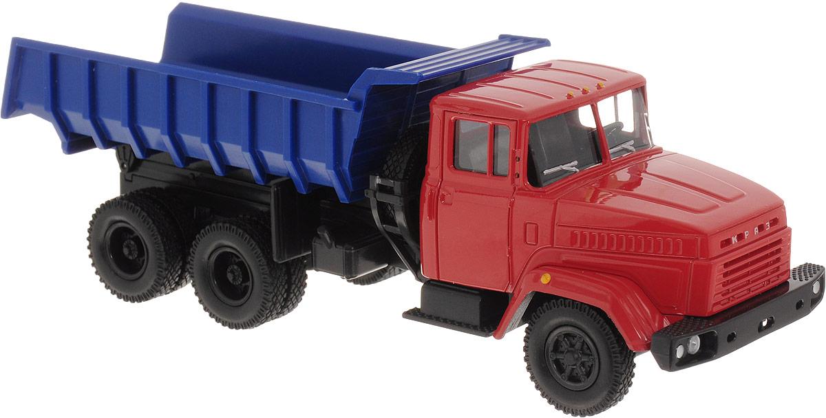Autotime Модель автомобиля KRAZ-6510 бортовой грузовик autotime с тентом маз 516 в ассорт