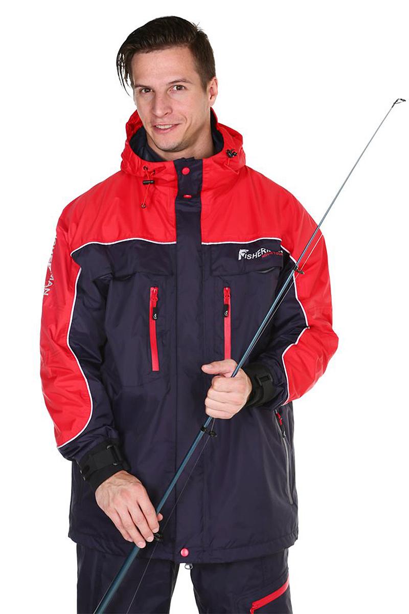 Куртка рыболовная мужская FisherMan Nova Tour Коаст PRO, цвет: графит, красный. 95428-924. Размер XXL (56)