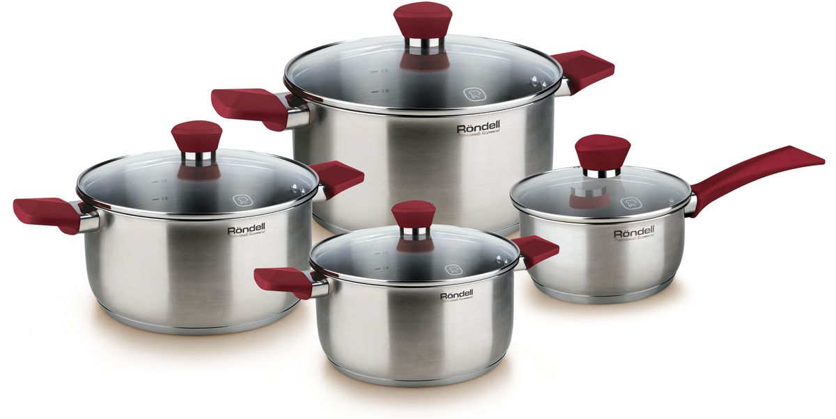 Набор посуды Rondell Strike, 8 предметов. RDS-818 falke короткие носки