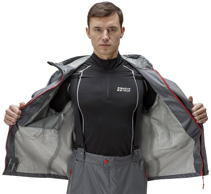 Куртка рыболовная мужская FisherMan Nova Tour Коаст V2, цвет:  серый.  95934-911.  Размер XL (54)