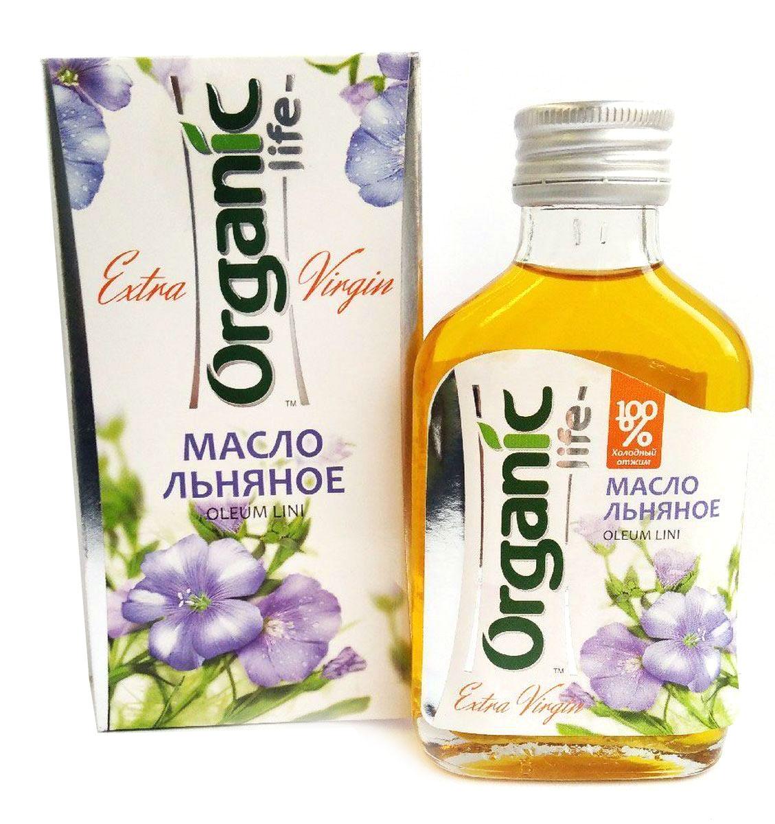 Organic Life масло льняное, 100 мл масло льняное полимерезиновое lefranc