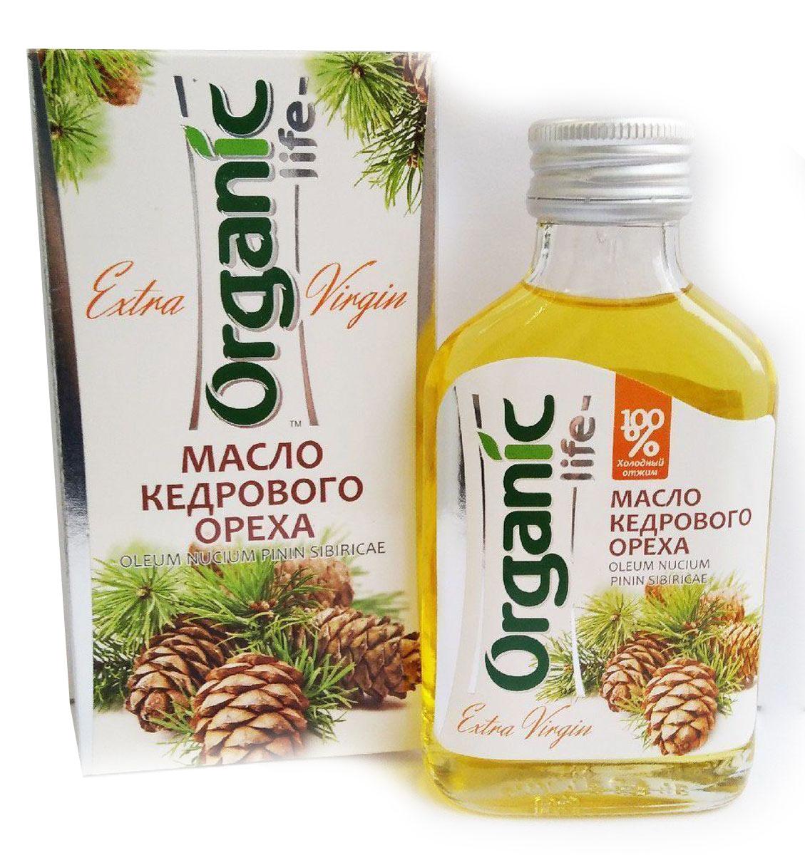 Organic Life масло кедрового ореха, 100 мл212036Масло кедровое (из ядер сибирского кедрового ореха) - настоящая природная кладовая необходимых человеку веществ. В его составе гармонично сочетаются витамины (Е, А, группа В, РР, D), аминокислоты, микроэлементы, фосфолипиды. Особую ценность представляет комплекс полиненасыщенных жирных кислот Омега-6 и Омега-3 (витамин Р), которые не синтезируются в организме, поэтому должны поступать с пищей. Они положительно воздействуют на структуры стенок сосудов и активно участвуют в синтезе различных гормонов, сохраняя молодость, здоровье и красоту. Кедровое масло содержит редко встречающуюся в природе гамма-линоленовую кислоту. Она обладает противовоспалительным действием, предупреждает образование тромбов, снижает уровень плохого холестерина в крови, контролирует возникновение жировых клеток, ускоряет расщепление жиров, помогает избавиться от лишнего веса. Кедровое масло обладает тонким ореховым вкусом и ароматом, может улучшить вкус любого блюда. Способ применения: по 1 ч.л. 2-3 раза в день.Масла для здорового питания: мнение диетолога. Статья OZON Гид